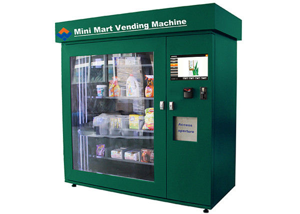 High Capacity Network Vending Machine , Banknote Acceptor and Credit Card Reader