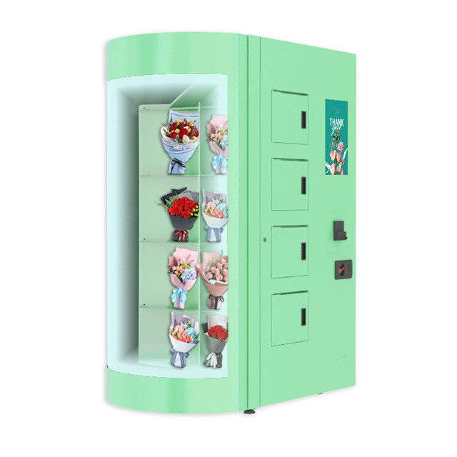 Advertising Touchscreen Flower Bouquets Vending Machine For Hospital Clinic
